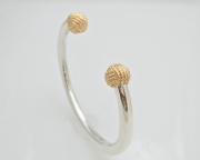 Sterling Silver and 14k Gold Sailors Knot Cuff