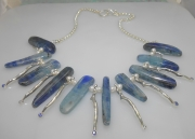Ss Branch Coral  and Kyanite Necklace
