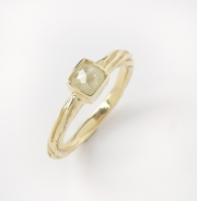 14k Gold Sea Grass Natural Diamond Sea Grass Ring