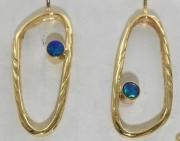 14k Sea Grass Opal Drop Earrings
