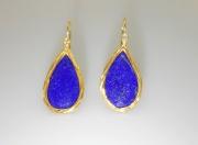 14k Gold Lapis Lazuli Earrings