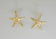 14k Gold Sea Star Studs