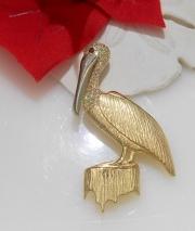 14k Pelican Pin and Pendant