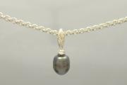 Sterling Silver Tahitian Pearl Pendant