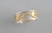 Ss & 14k Gold Mermaid Ring