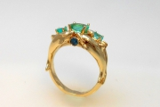 14k Gold Dolphin Ring with Stones