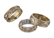 14k Gold and Sterling Silver Reef Rings