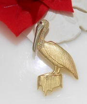14k Pelican Pin and Pendant