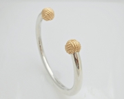 Sterling Silver and 14k Gold Sailor's Knot Cuff