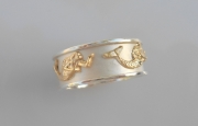 Ss & 14k Gold Mermaid Ring
